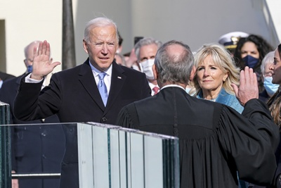 President Biden taking oath January 20, 2021
