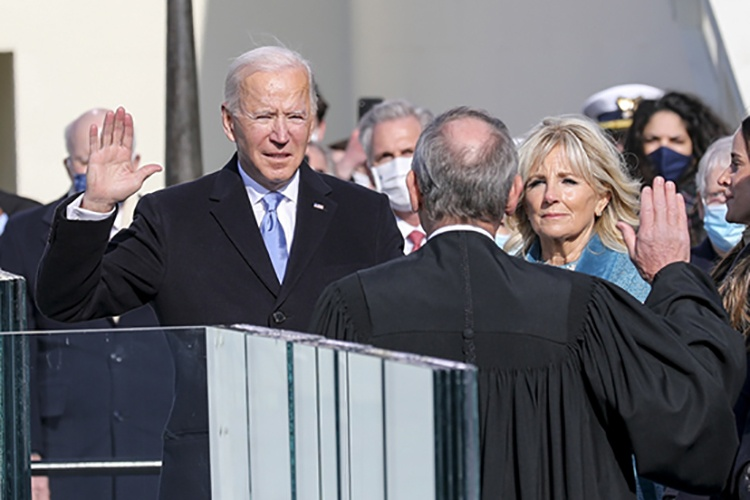 President Biden taking oath January 20, 2021